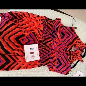 Trina Turk Smocked Jersey Dress Size Medium